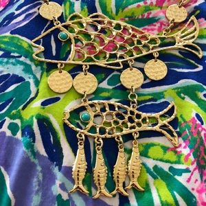 NWOT Lilly Pulitzer Fish Necklace